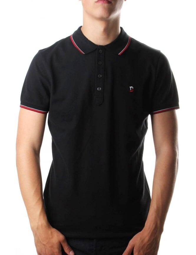 Diesel T-Skin Men's 'D' Logo Polo Top