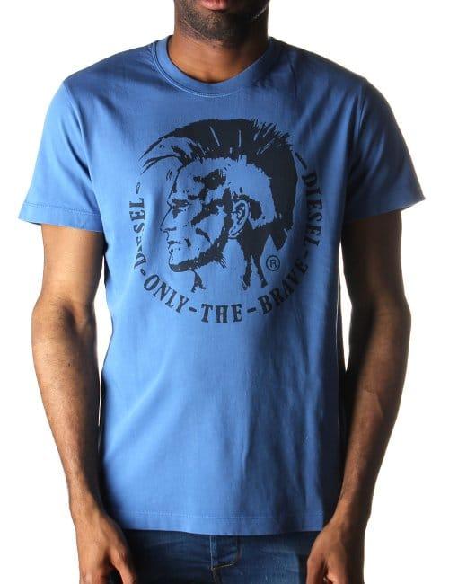 men t shirts vests printed tees diesel t ulysse men 39 s t shirt blue. Black Bedroom Furniture Sets. Home Design Ideas