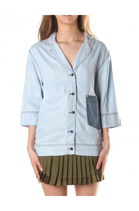 Women's De-Sleep Denim Blazer Shirt