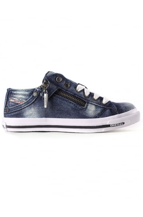 Young Boys Sn Low 25 Denim Trainer