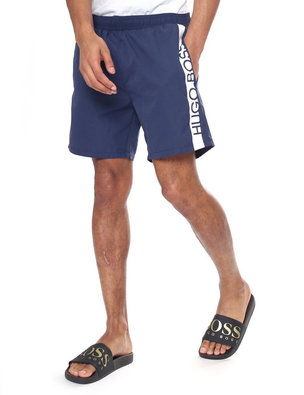 9c08cc344 Hugo Boss Men's 'Dolphin' Logo Print Swim Shorts