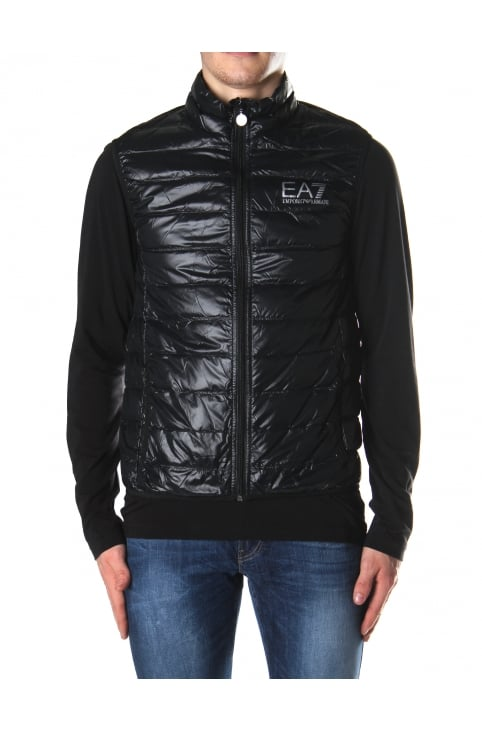 Men's Zip Through Down Gilet Black