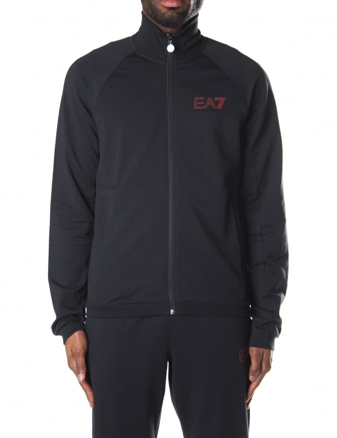 EA7 Men's Zip Through Sweat Top