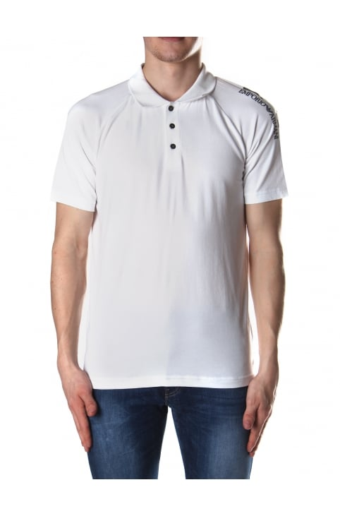Short Sleeve Mens' Polo Top White