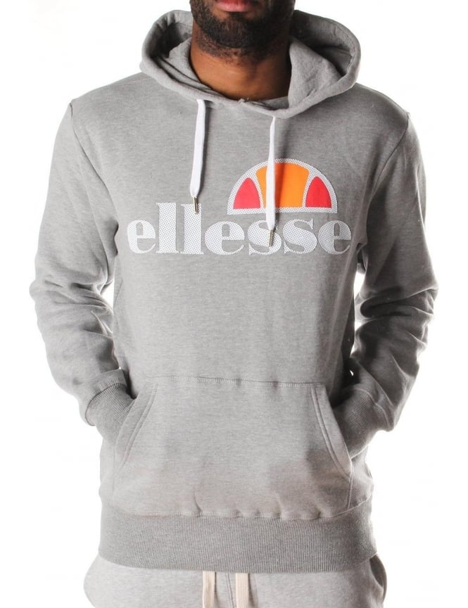 36bb3542cf Ellesse Castello Logo Pullover Men's Hooded Sweat Grey