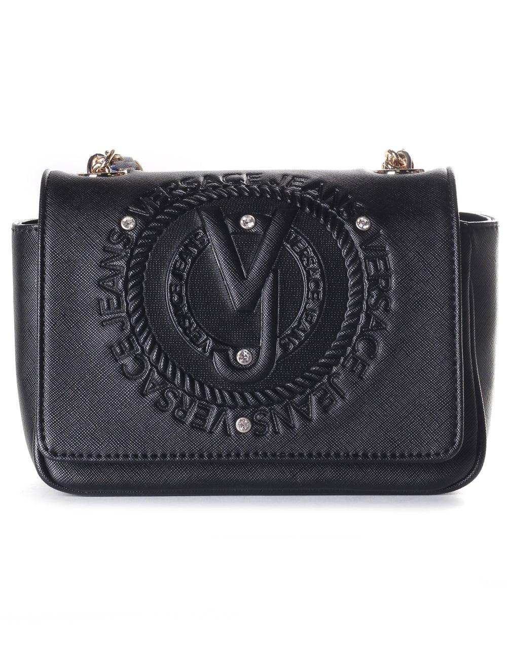 1866b7b1 Versace Jeans Embossed Logo Women's Chain Strap Bag