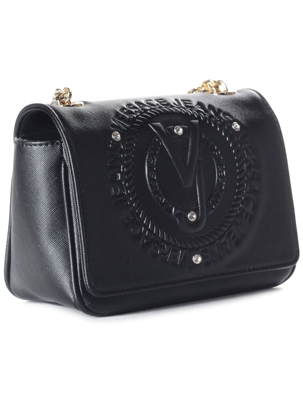 785474d13f Versace Jeans Embossed Logo Women's Chain Strap Bag