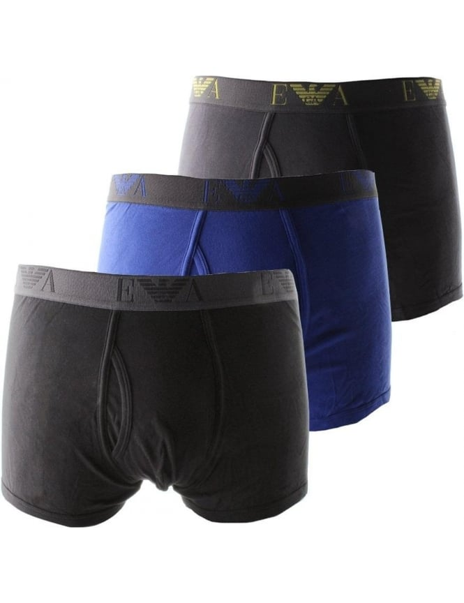 Emporio Armani 3 pack Men's Boxer Trunks Black