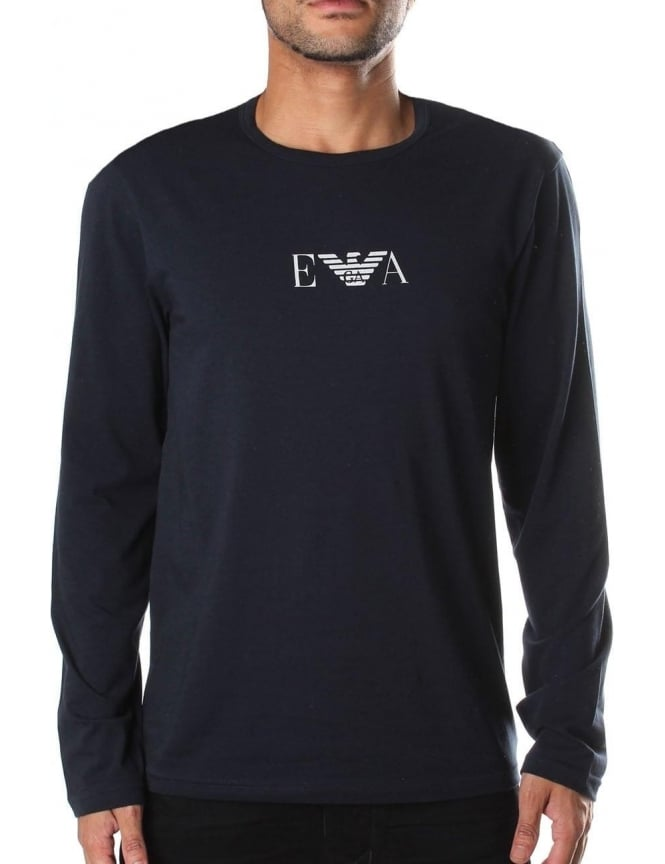 Emporio Armani Crew Neck Men's Long Sleeve Tee