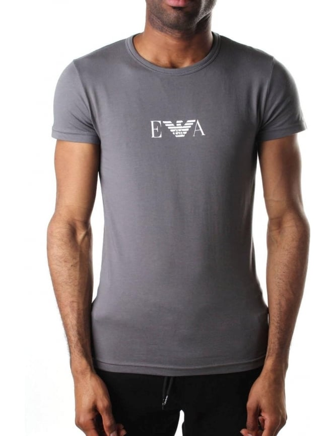 Emporio Armani Crew Neck Men's Short Sleeve T-Shirt Grey