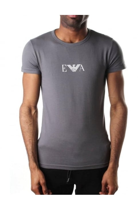 Crew Neck Men's Short Sleeve T-Shirt Grey