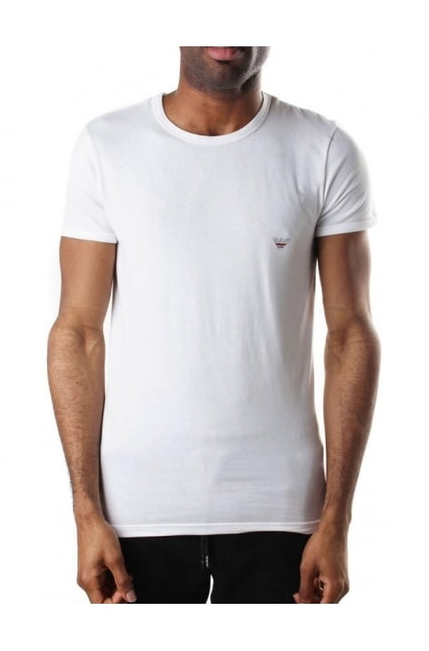 Crew Neck Men's Short Sleeve T-Shirt White