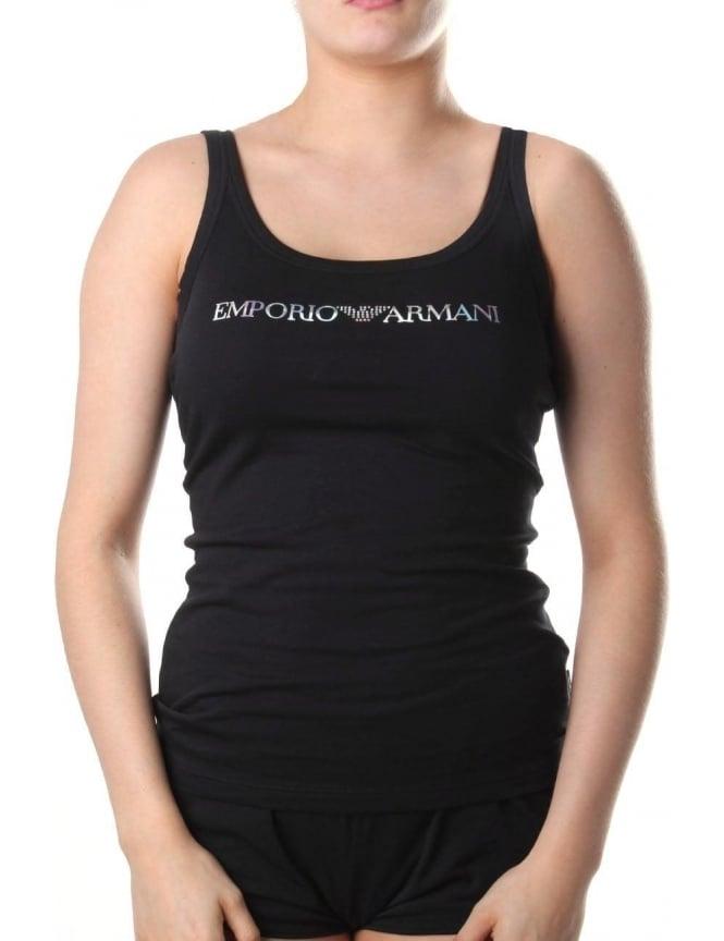 bf45d6e6a3538 Emporio Armani Diamante Logo Women s Tank Top Black
