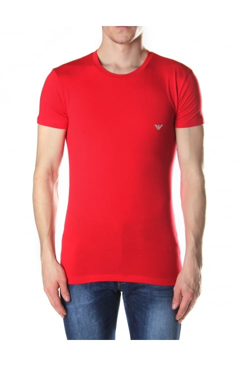 Eagle Logo Men's Crew Neck Tee Red