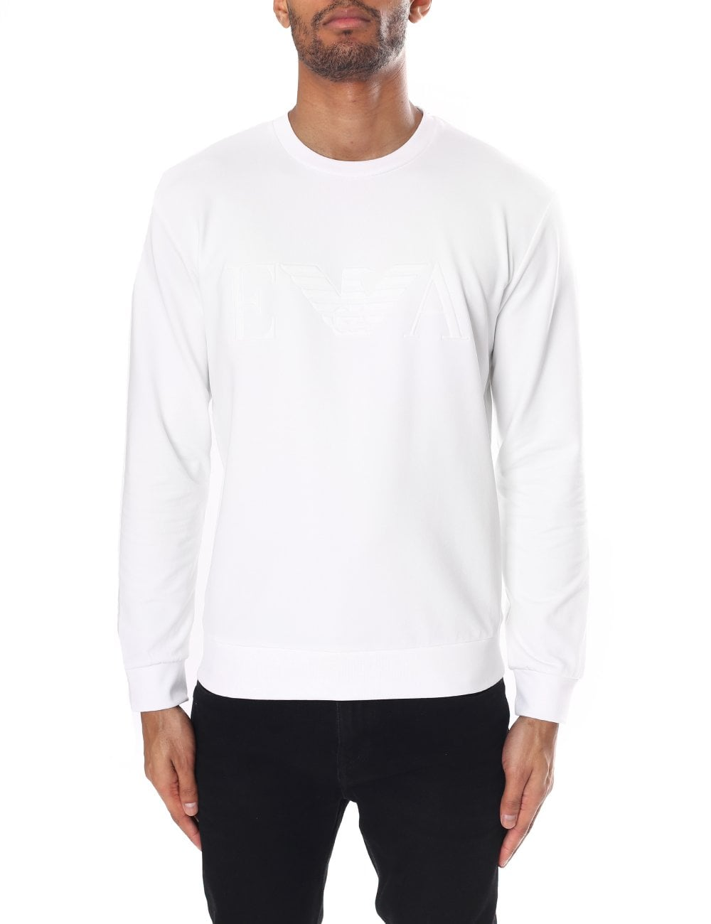 9506615364 Emporio Armani Embossed Eagle Logo Sweatshirt