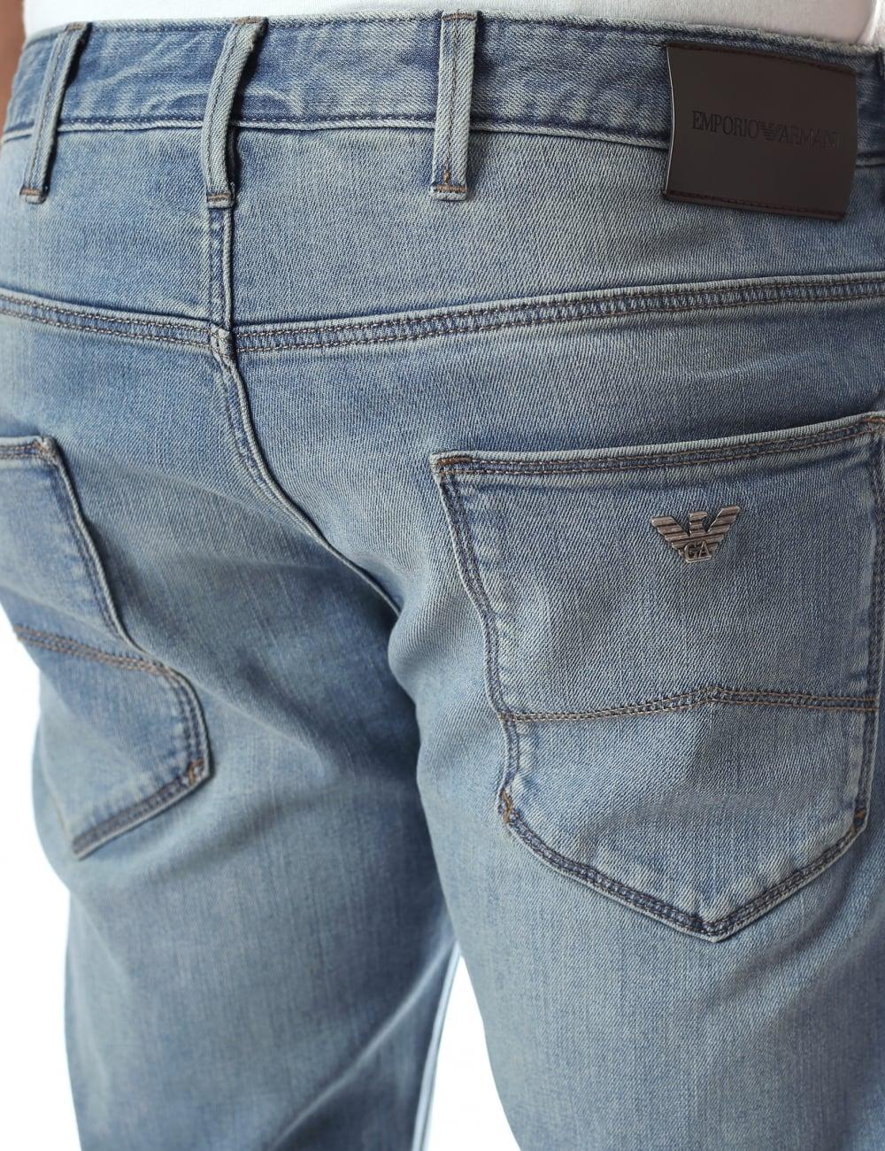 d3c598f80525c Emporio Armani J06 Men s Regular Fit Stone Wash Jean