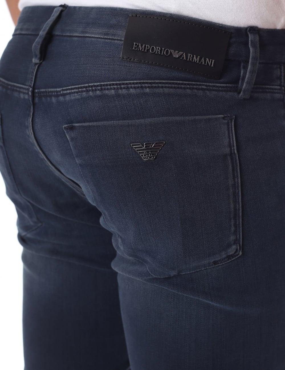 3ec56319 Emporio Armani J11 Men's Dark Wash Slim Jean