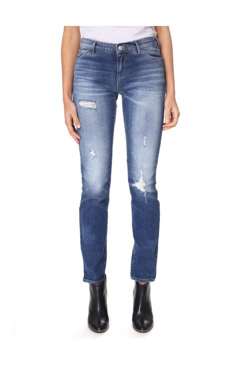 3e963b46a3f66 Women s J28 Distressed Push Up Fit Jeans. EMPORIO ARMANI ...