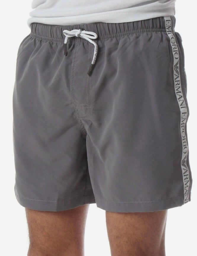 042c5fd9f3 Logo Trim Men's Swim Shorts Grey