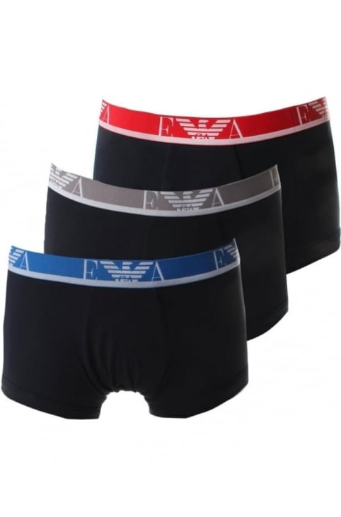 Men's 3 Pack Trunks Marine/Marine