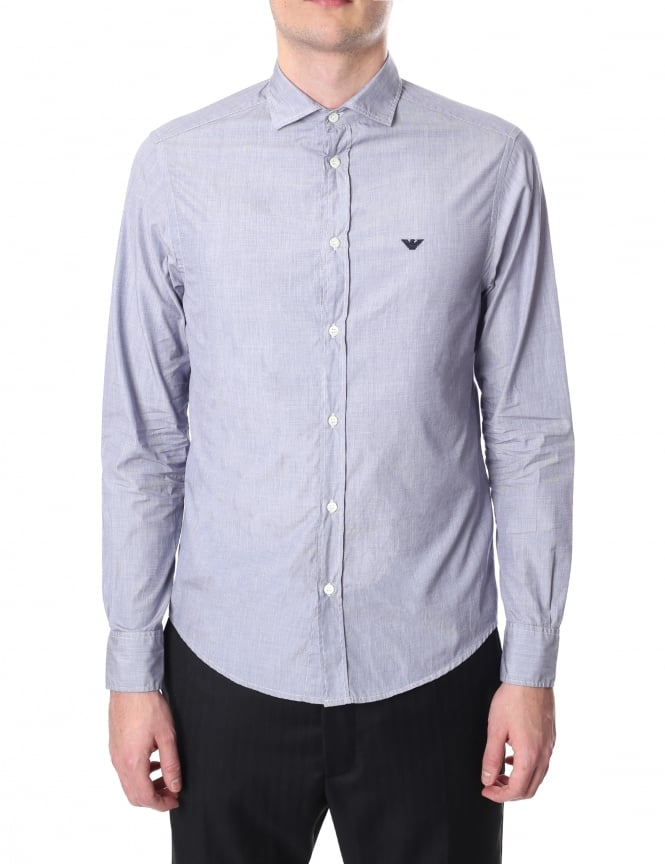 Emporio Armani Men's Custom Fit Long Sleeve Shirt