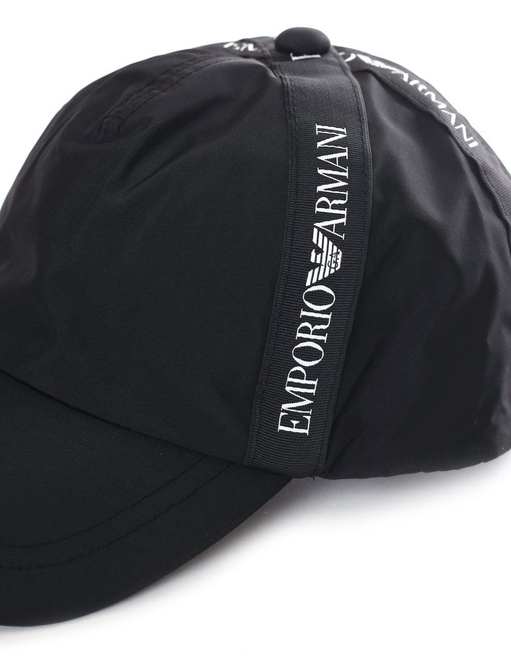 ec9010670ec Emporio Armani Men s Logo Tape Baseball Cap