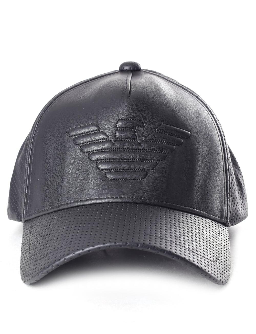 70d33bfee820a Emporio Armani Men s Perforated Logo Baseball Cap