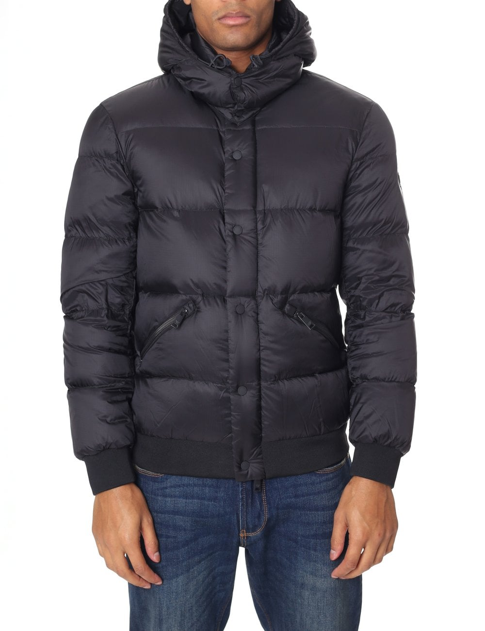 826ca578d939 Emporio Armani Men s Quilted Hooded Puffa Jacket