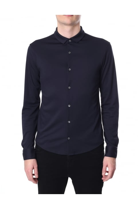 Men's Slim Fit Long Sleeve Polo Top