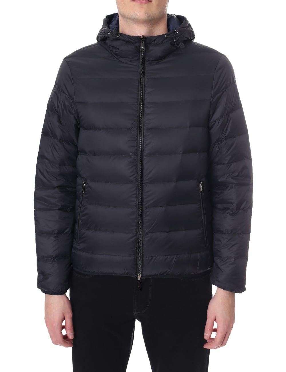 4a74db77eccb Emporio Armani Men s Zip Through Hooded Jacket Black