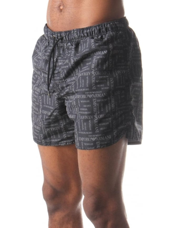 Emporio Armani Printed Men's Swim Shorts