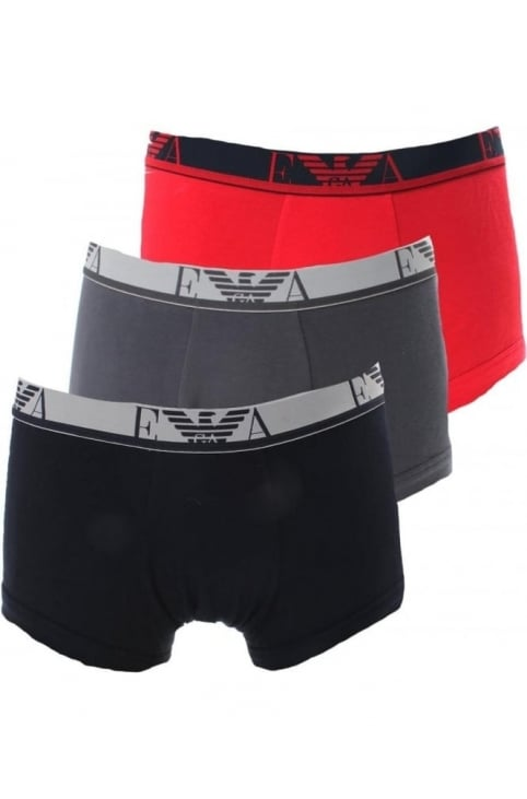 Three Pack Men's Logo Boxer Shorts Multi