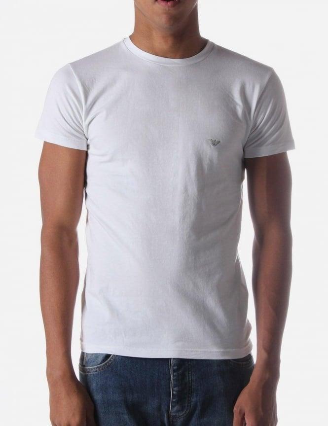 syksyn kengät huippumuoti kodikas raikas Emporio Armani Underwear Men's Tee White