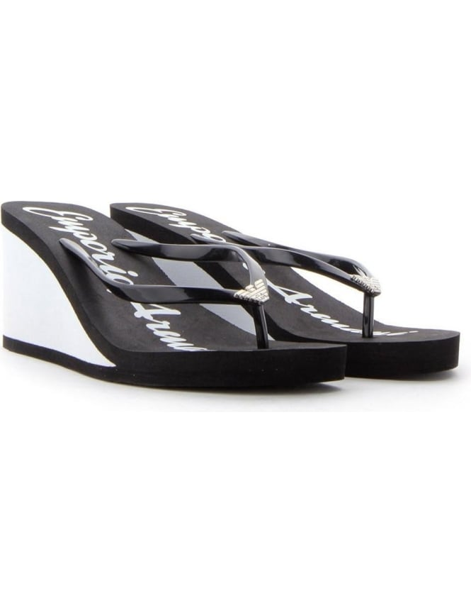8d9c2b2c248b59 Wedge Heel Women s Flip Flop Beach Sandals Black