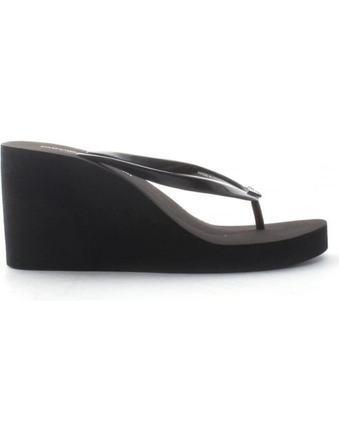 87b9960df4f8f Wedge Heel Women s Flip Flop Black