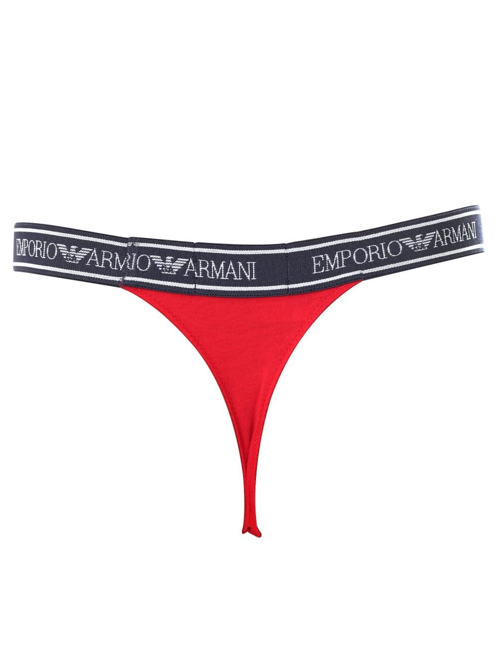 ab18416cb ... Emporio Armani Women s Logo Waistband Thong. Tap image to zoom.  Women  039 s Logo Waistband Thong