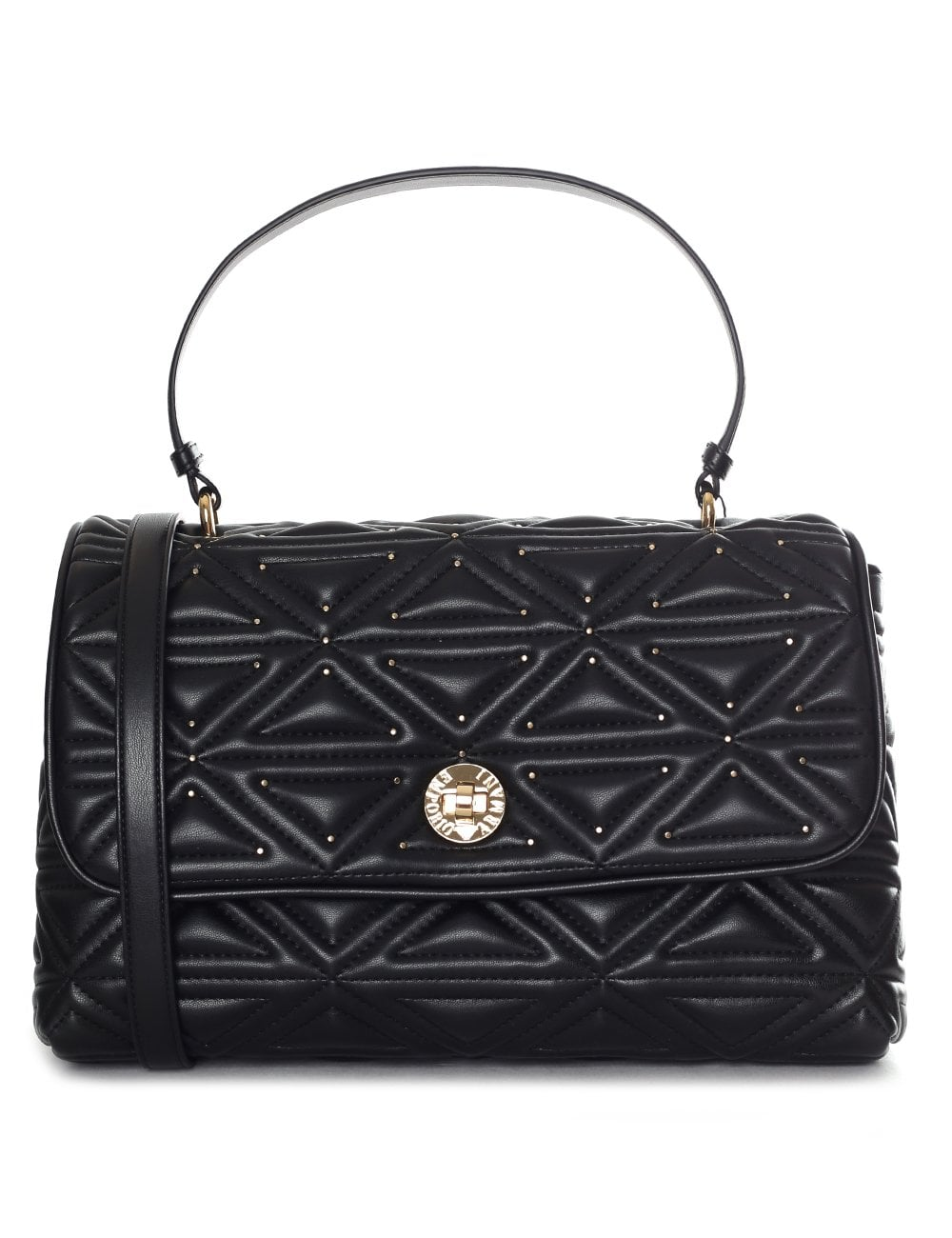 1627f4d52383 Emporio Armani Women s Quilted Stud Shoulder Bag Black