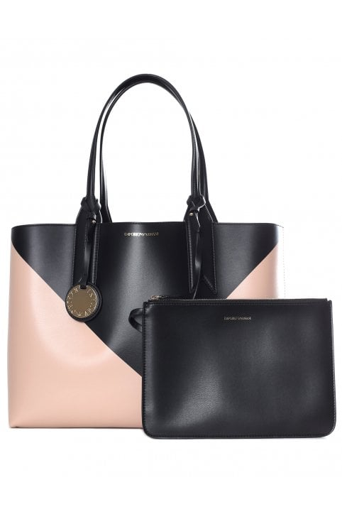 Women s Reversible Triangle Shopper Bag · Emporio Armani Women s Reversible  Triangle Shopper Bag Apricot Black 75c686c824d03