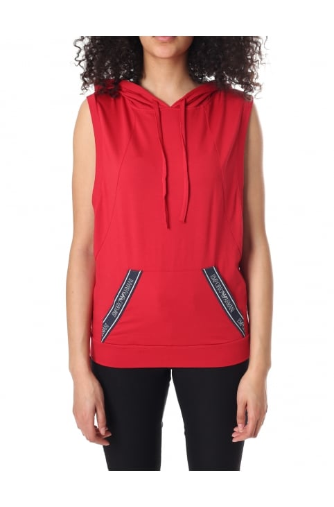 Women's Sleeveless Hooded Sweat Top