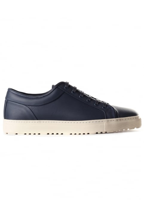 Men's Low 1 Leather Trainer Midnight Bone