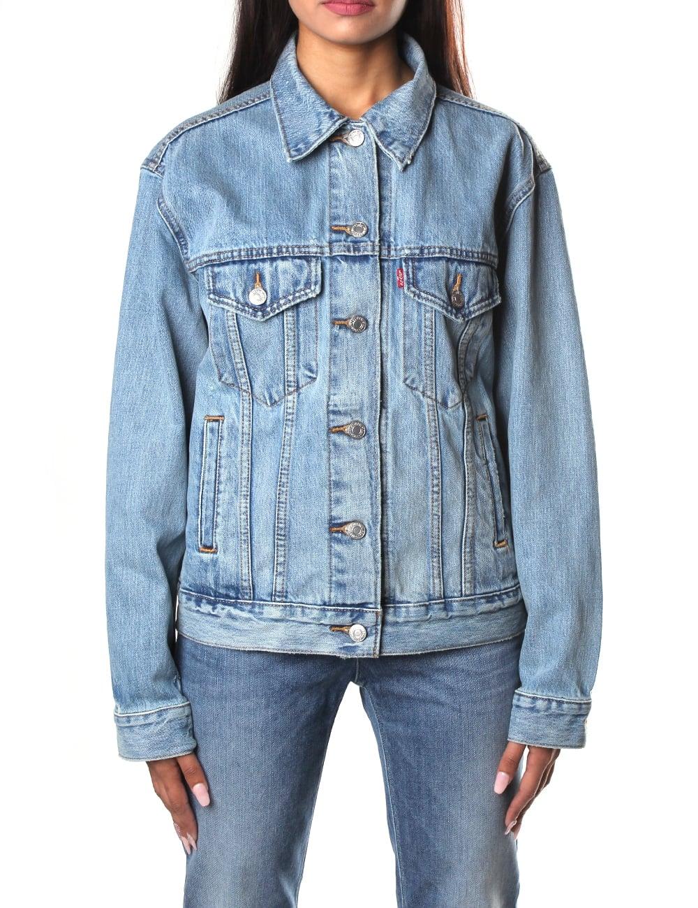 8128616225e Levi's Ex- Boyfriend Women's Trucker Denim Jacket