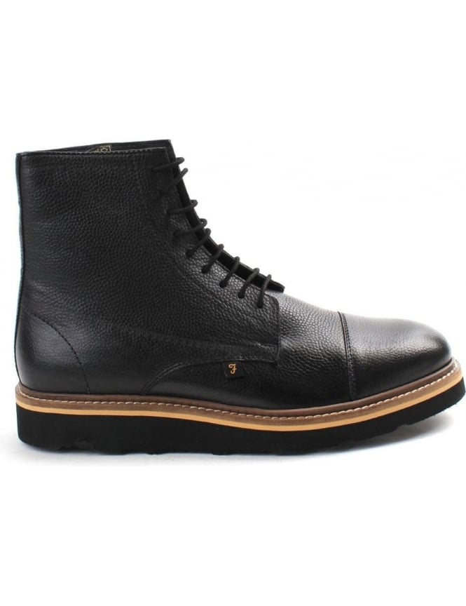 Farah Margo Grain Leather Men's High Top Boot