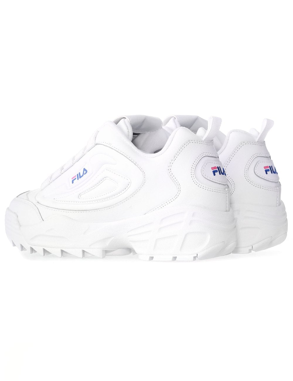 Womens Fila Disruptor 3 Trainers Magenta Blue White Trainers Shoes