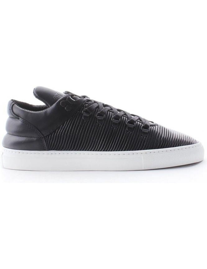 Filling Pieces Black Pleat Men's Mountain Trainer Black