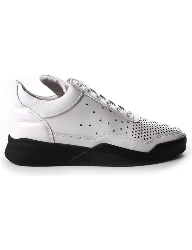 Filling Pieces Low Top Gradient Perforated Men's Trainer white