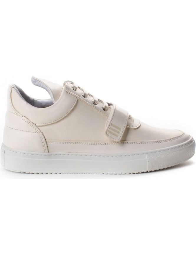 Filling Pieces Low Top One Strap Men's Lace Up Trainer Cream