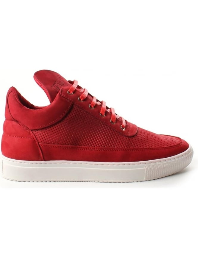 Filling Pieces Low Top Tone Perforated Men's Trainer