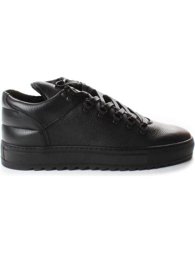 Filling Pieces Mountain Thick Ripple Men's Lace Up Trainer Black