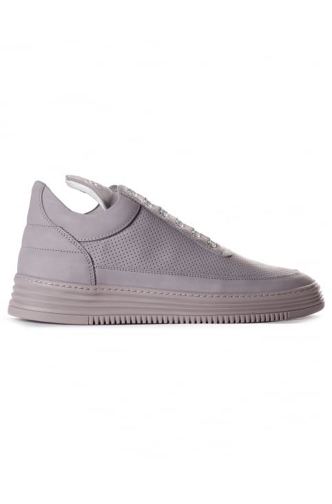 Men's Low Top Perforated Tone Trainer Grey