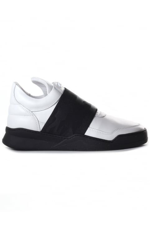 Women's Low Top Elastic Strap Trainer White